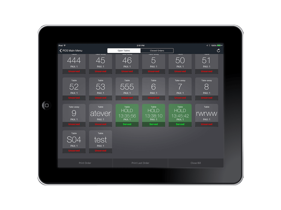Orca POS ipad productivity